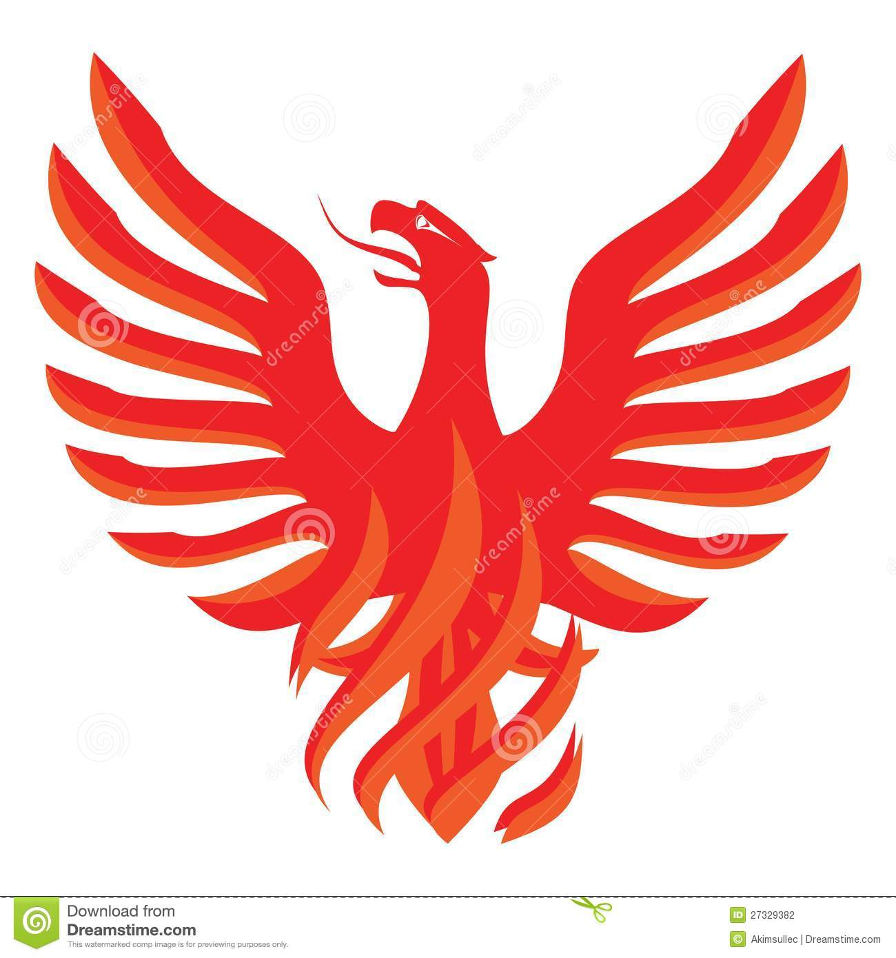 Red Phoenix Des... Eagle Logo Design