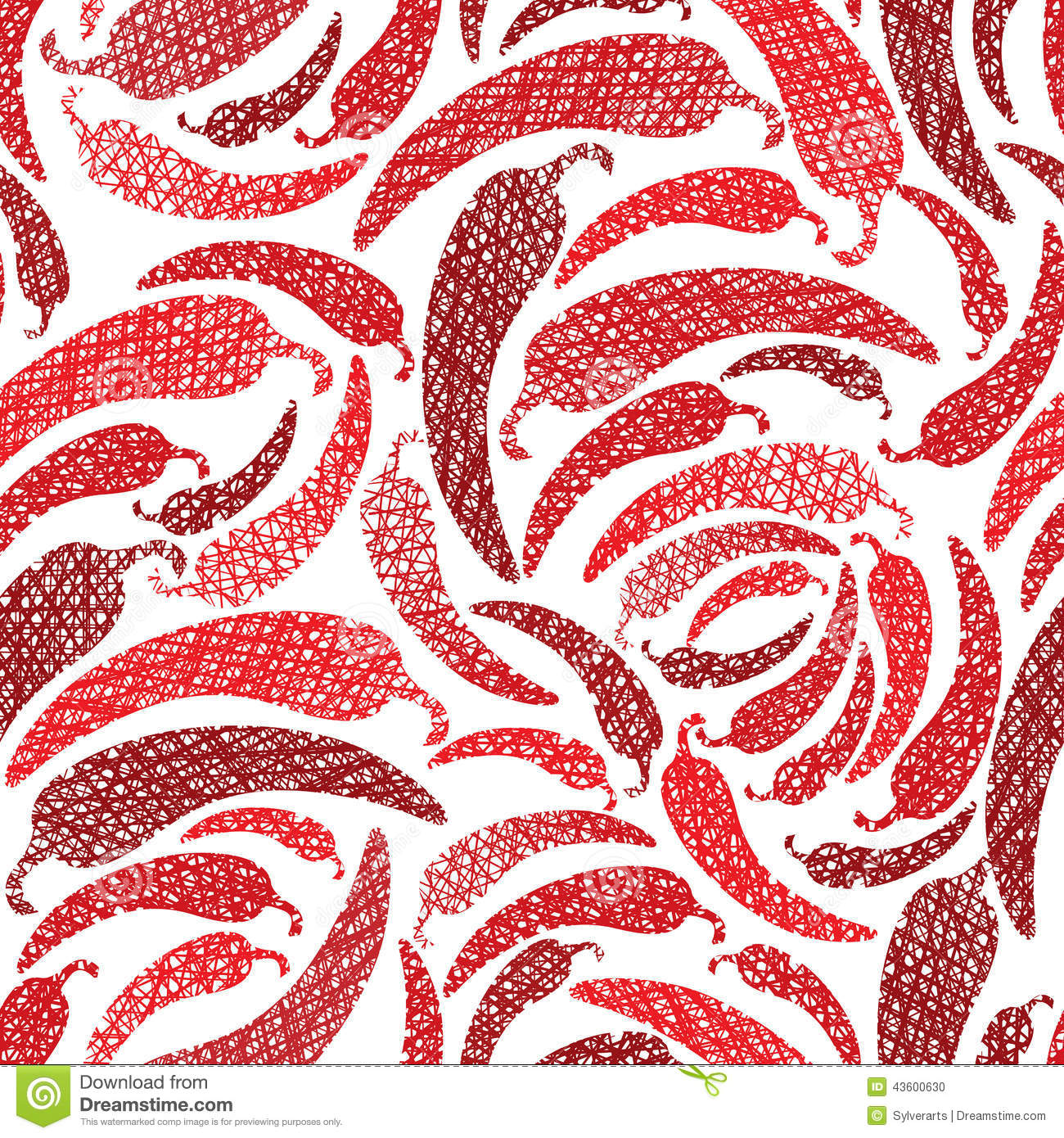 red hot chilly peppers seamless pattern mexican food