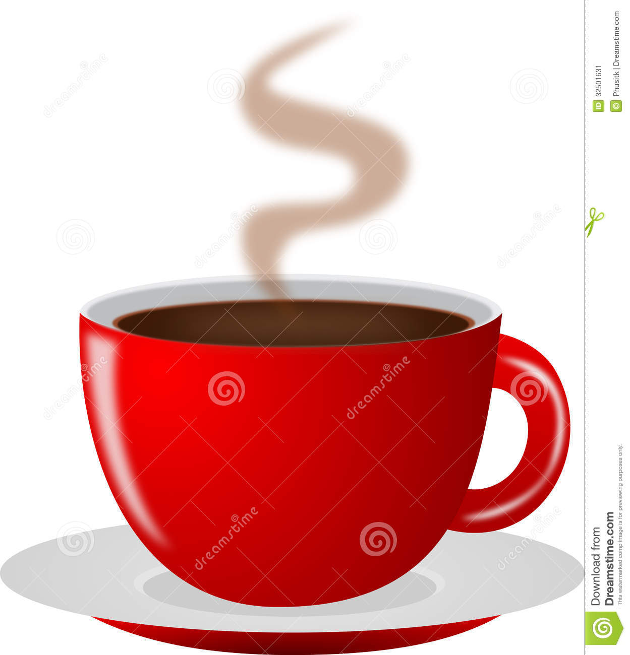 Red Hot Coffee Cup Stock Image - Image: 32501631