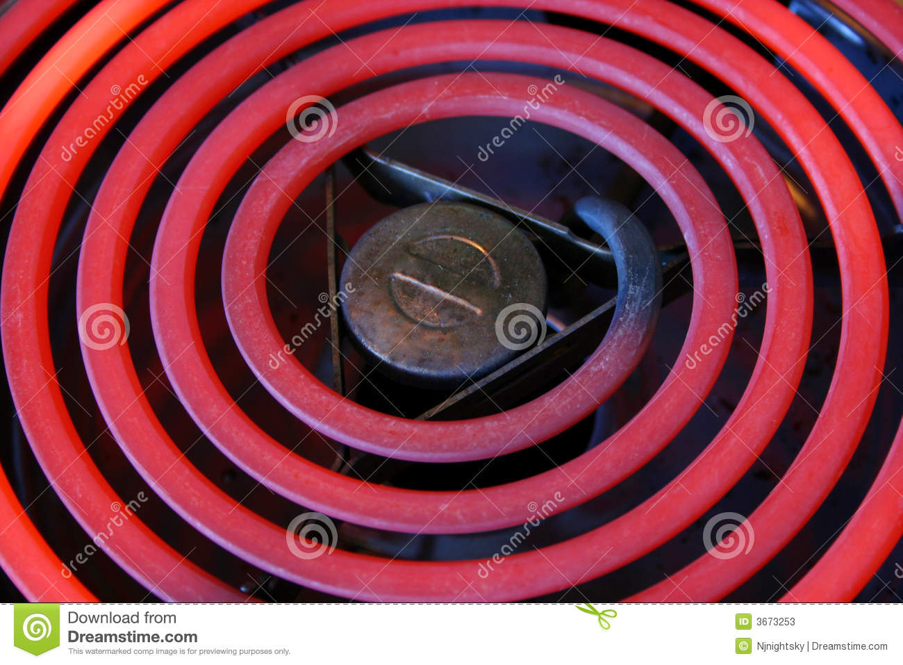 Red Hot Electric Stove Coils Stock Photos Image 3673253
