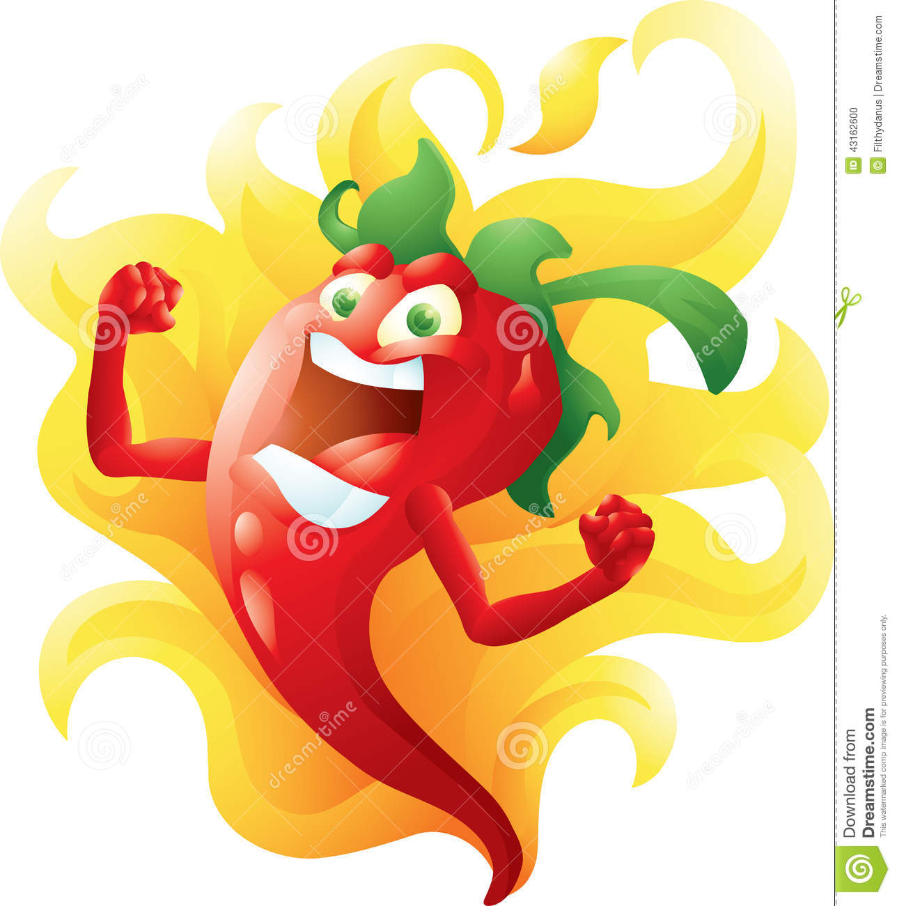 Populaire Red Hot Pepper On Fire Cartoon Stock Vector - Image: 43162600 XG13