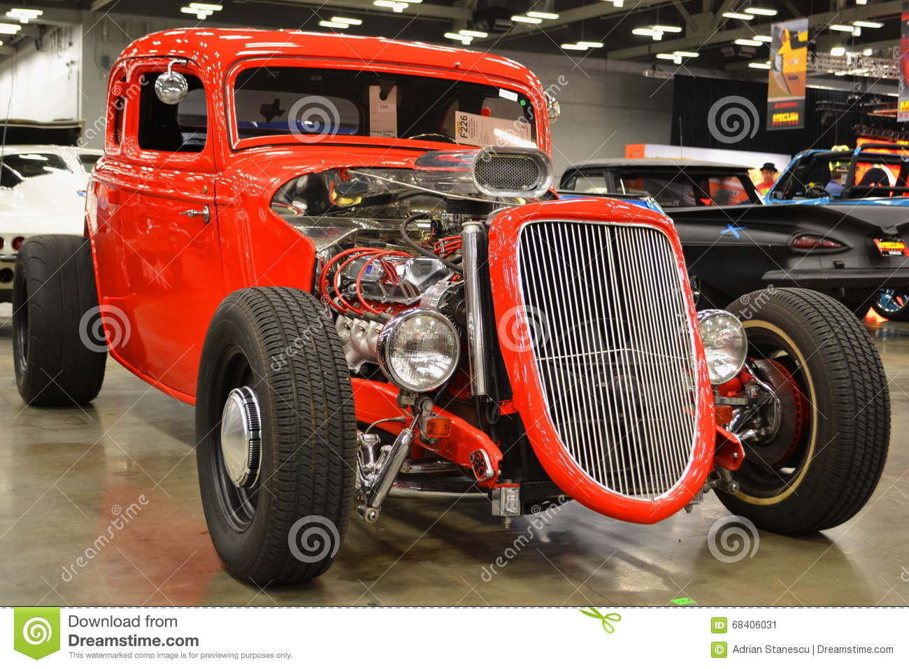 Red Wing Ford >> Red Hot Rod editorial photo. Image of inspirational, hour - 68406031