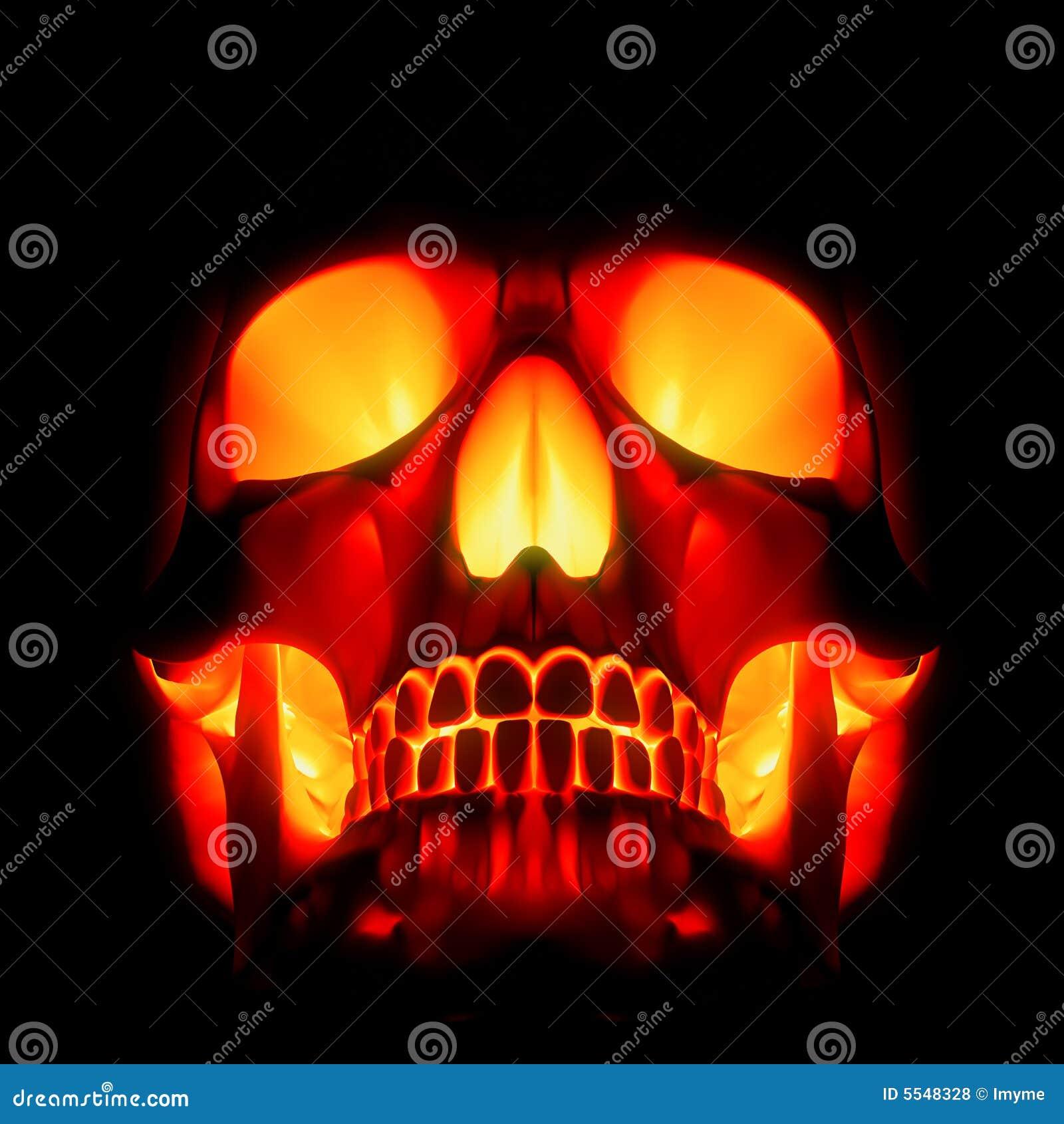 Red Hot Skull Stock Illustration Illustration Of Dead