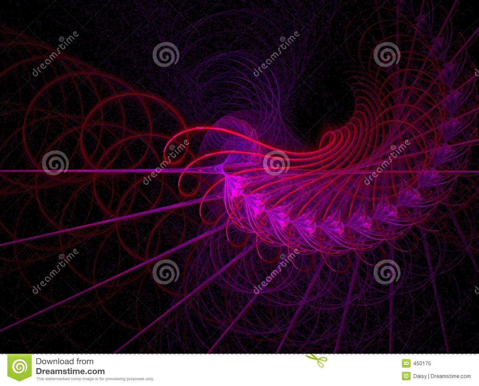 Red hot spirals and swirls