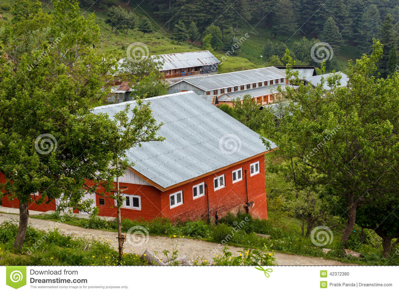 Red houses with sloping roof stock photo image 42372380 Regional house