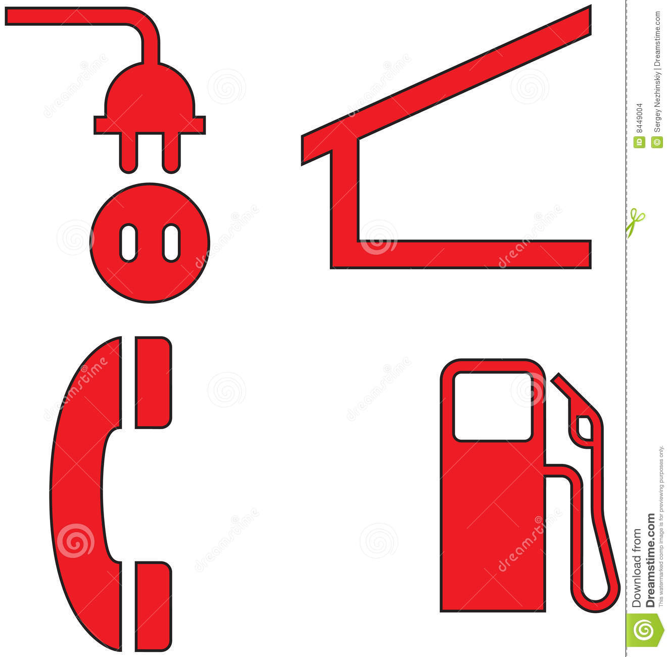 Red icons set thirty two