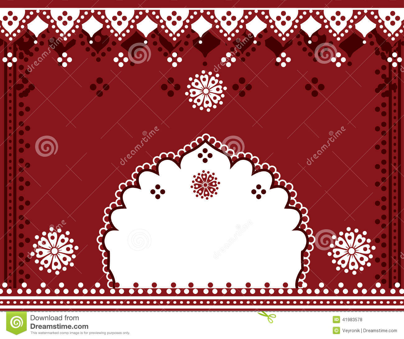 Red Indian Background Stock Vector Image 41983578