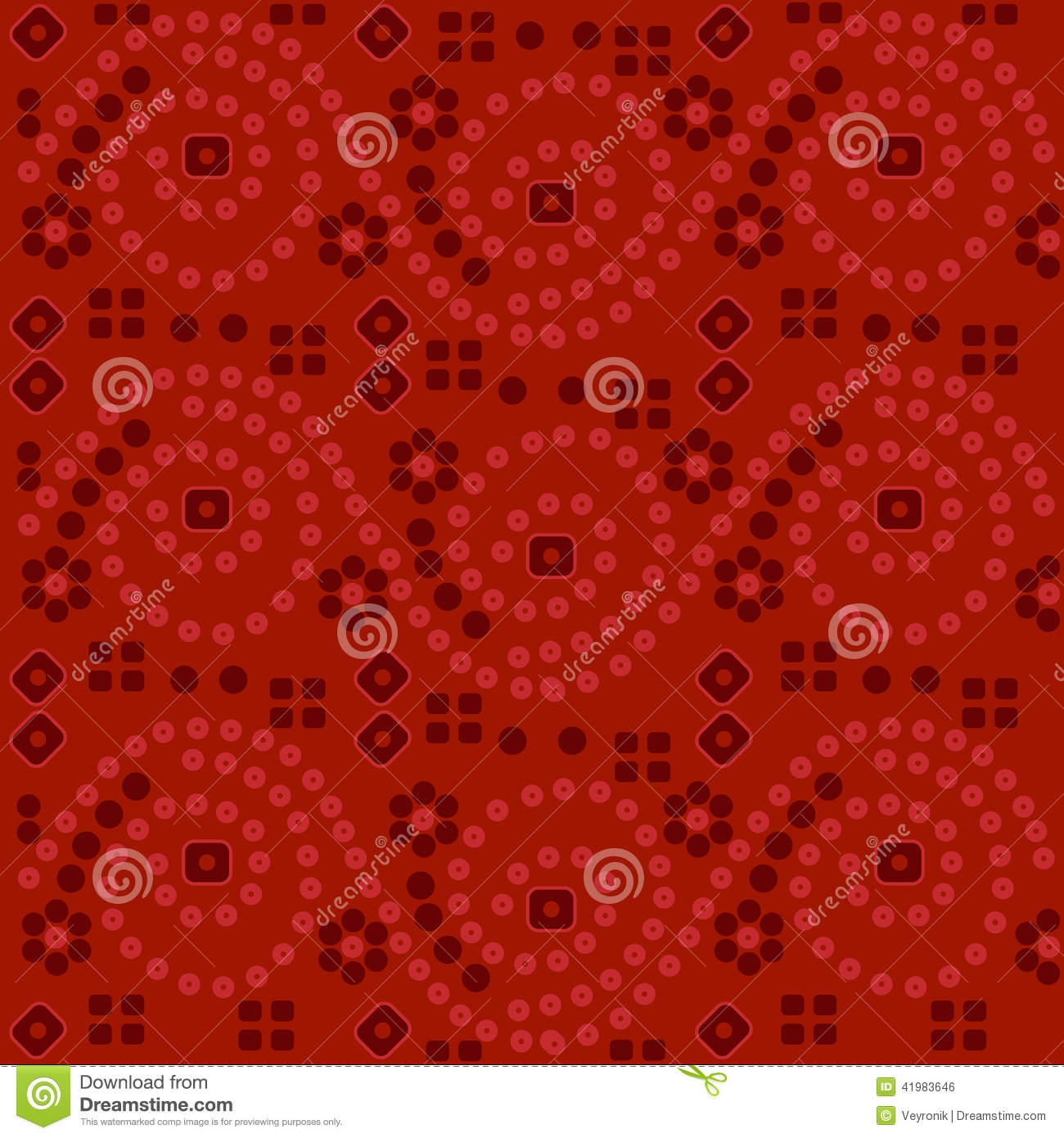 Red Indian Fabric Background Stock Vector Image 41983646