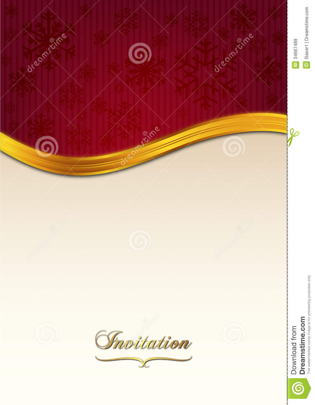 Red Invitation Paper Stock Image Image Of Shiny Celebration 34667489