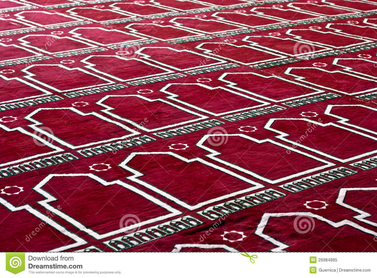 Red Islamic Praying Carpet In Pattern Stock Image Image