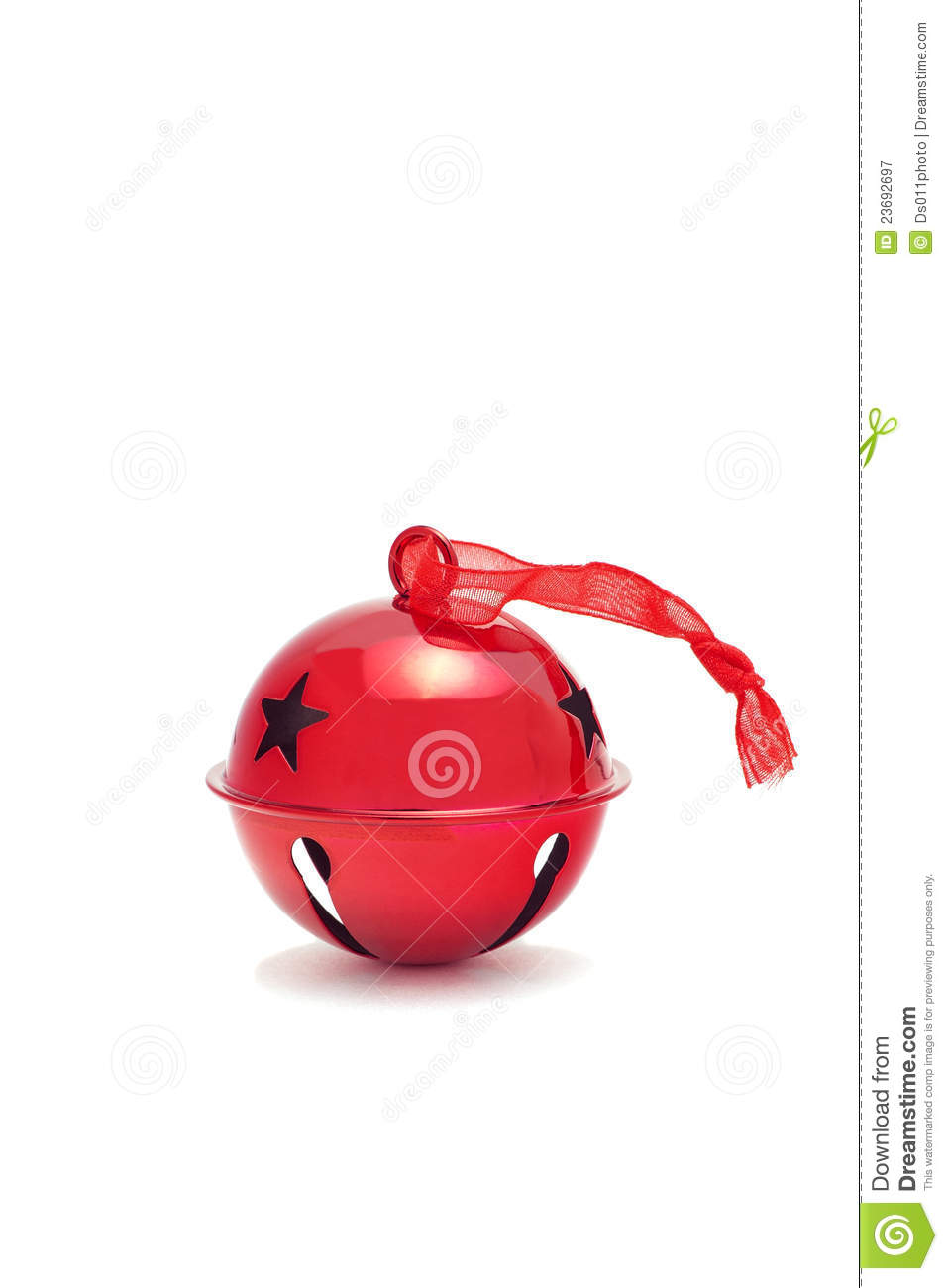 Red jingle bell stock image. Image of winter, star, bells ...
