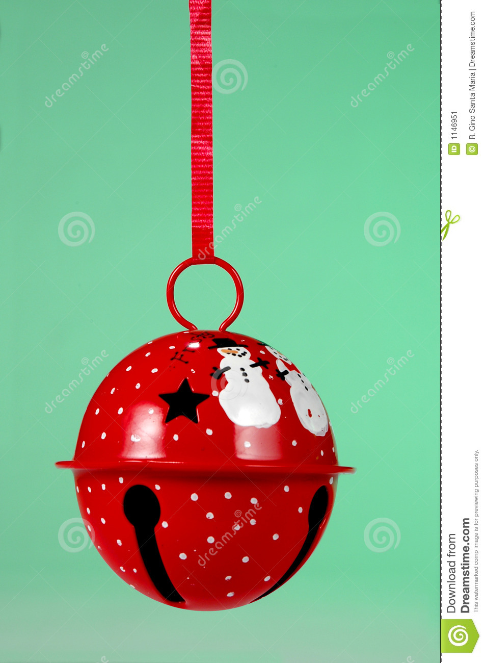 Jingle bell ornaments - Red Jingle Bell Ornament Stock Image Image 1146951