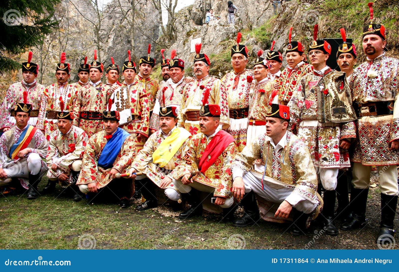 The Red Junii posing before dancing hora