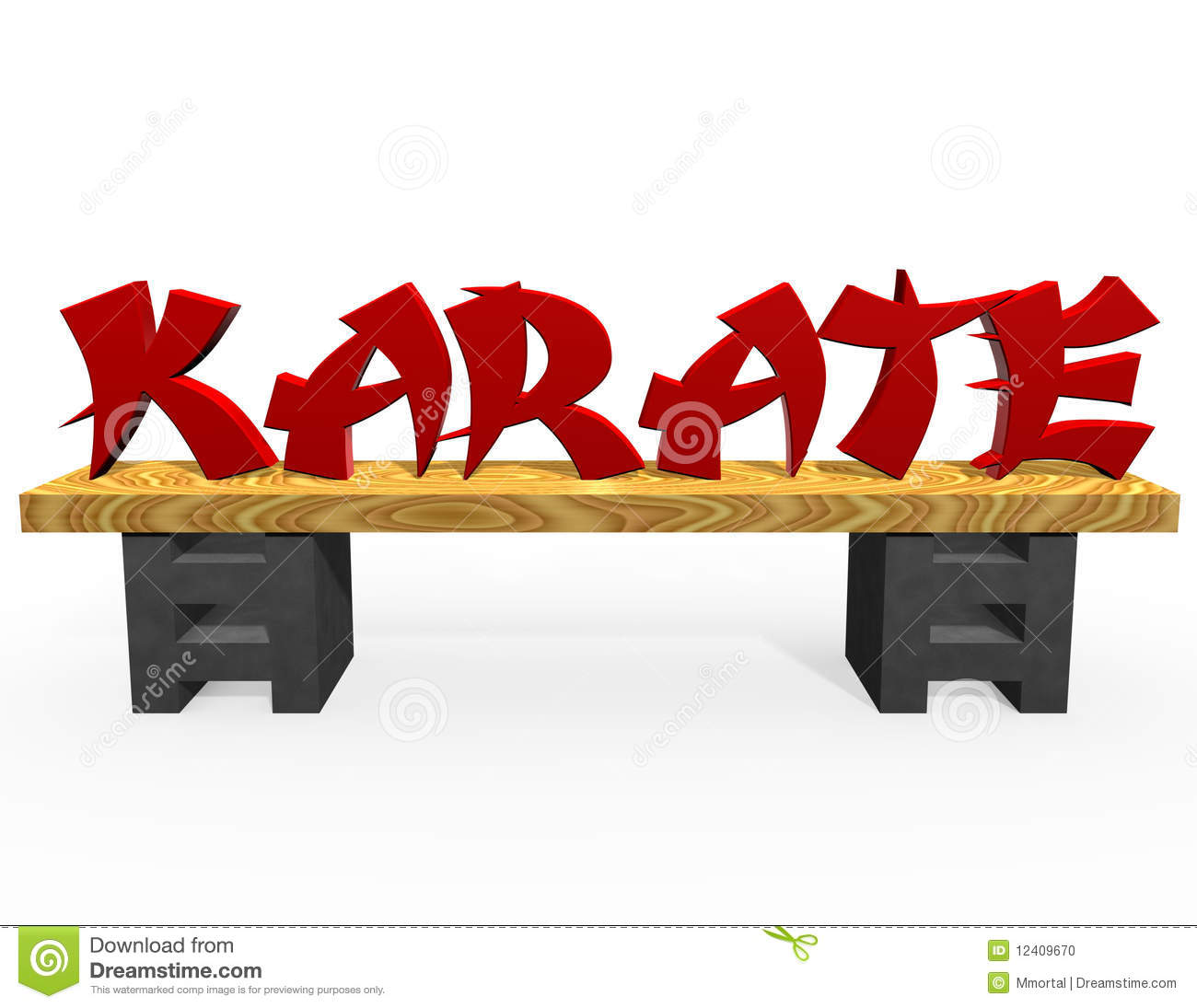 Red Karate Text Stock Photo Image 12409670