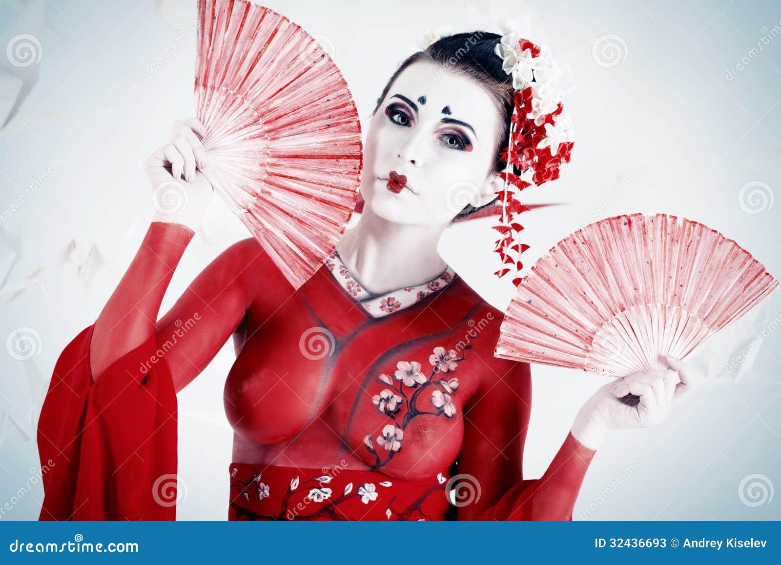 Red Kimono Stock Photos Image 32436693