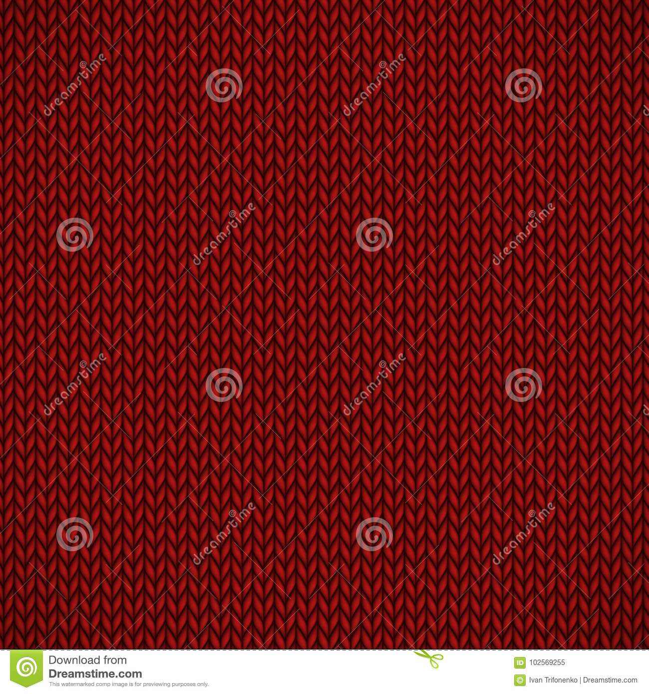 Red knitted jersey stock vector  Illustration of fabric