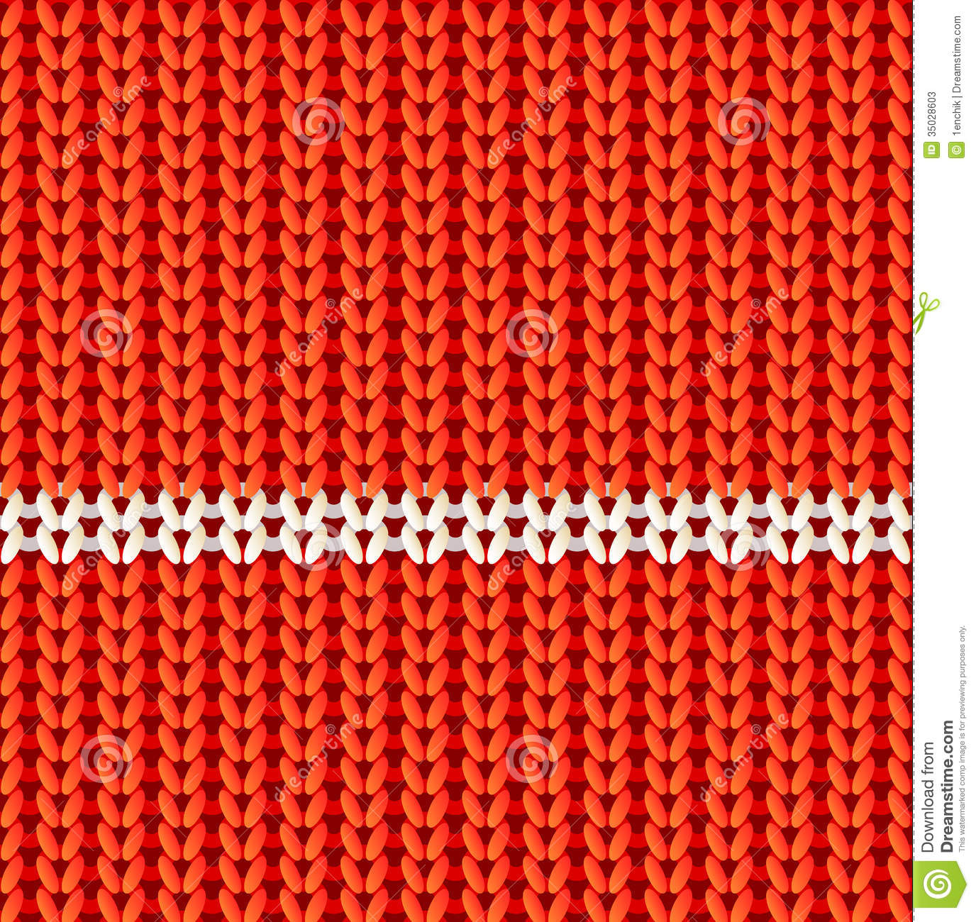 Knitting Stitches Vector : Red Knitted Vector Seamless Pattern Stock Photos - Image: 35028603