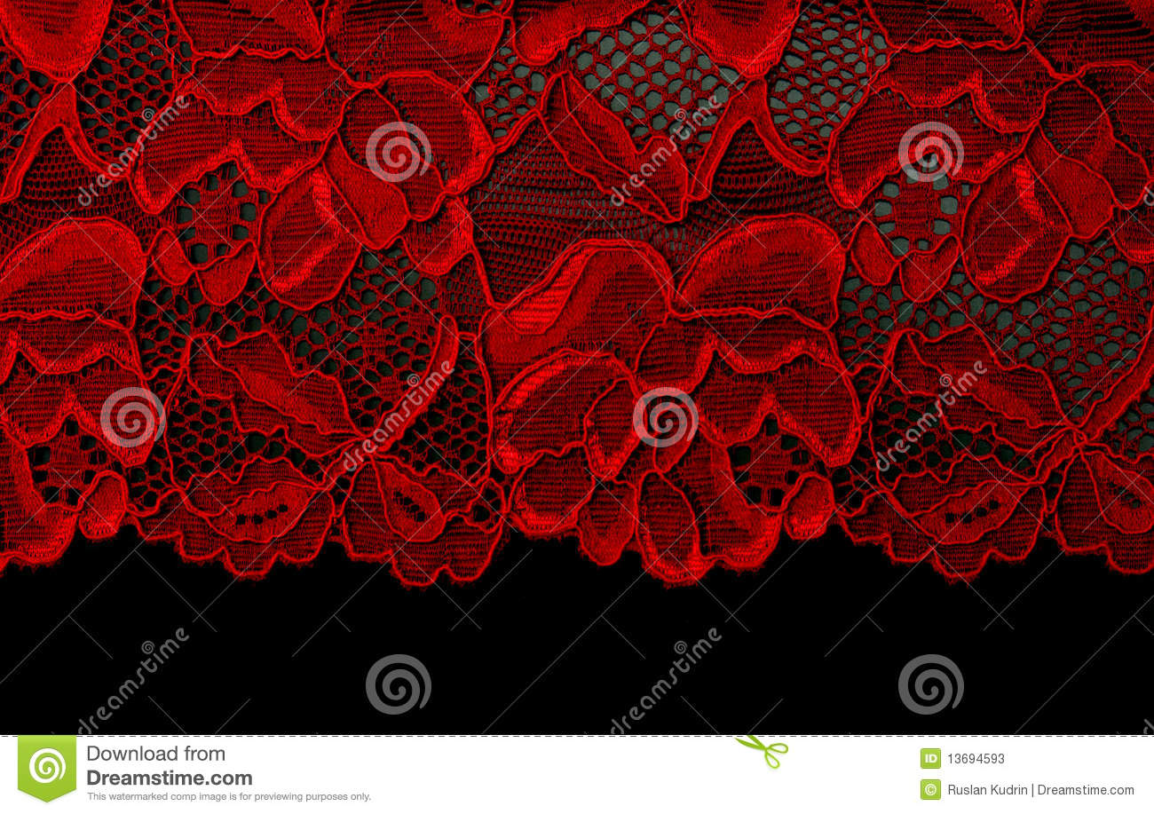 red lace stock image  image of decorative  design