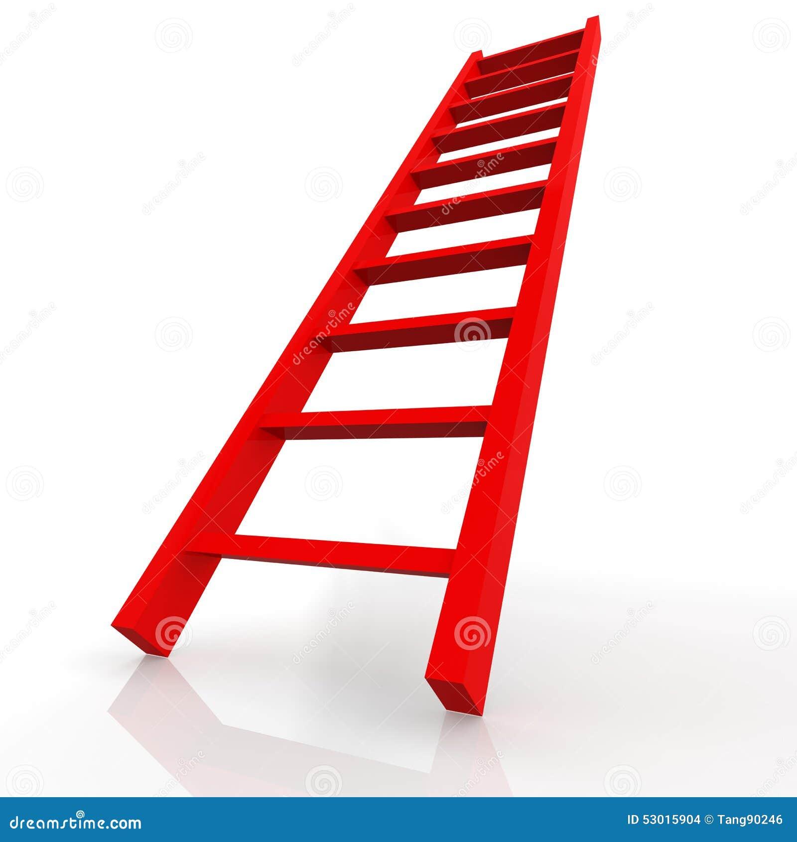 Red Ladder Stock Illustration Image 53015904