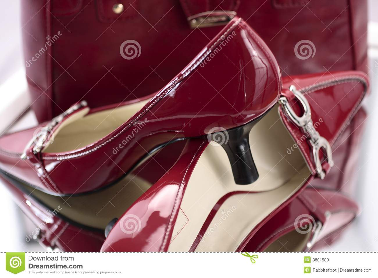 Red Ladies High Heel Shoes Stock Photo - Image: 3801580