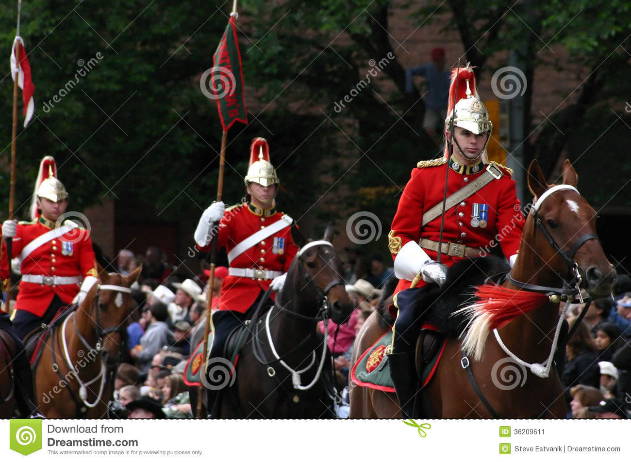 Red Lancers Riding In Parade Editorial Photo Image 36209611