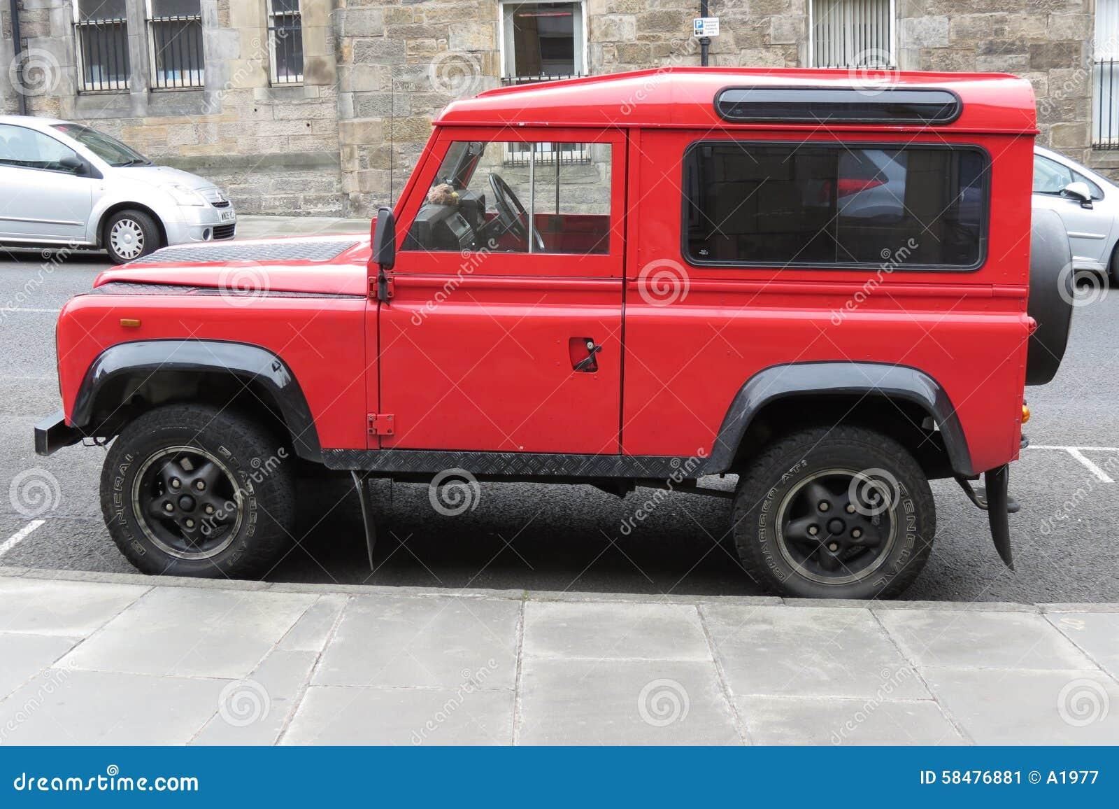 red land rover defender 110 editorial photo image 58476881. Black Bedroom Furniture Sets. Home Design Ideas