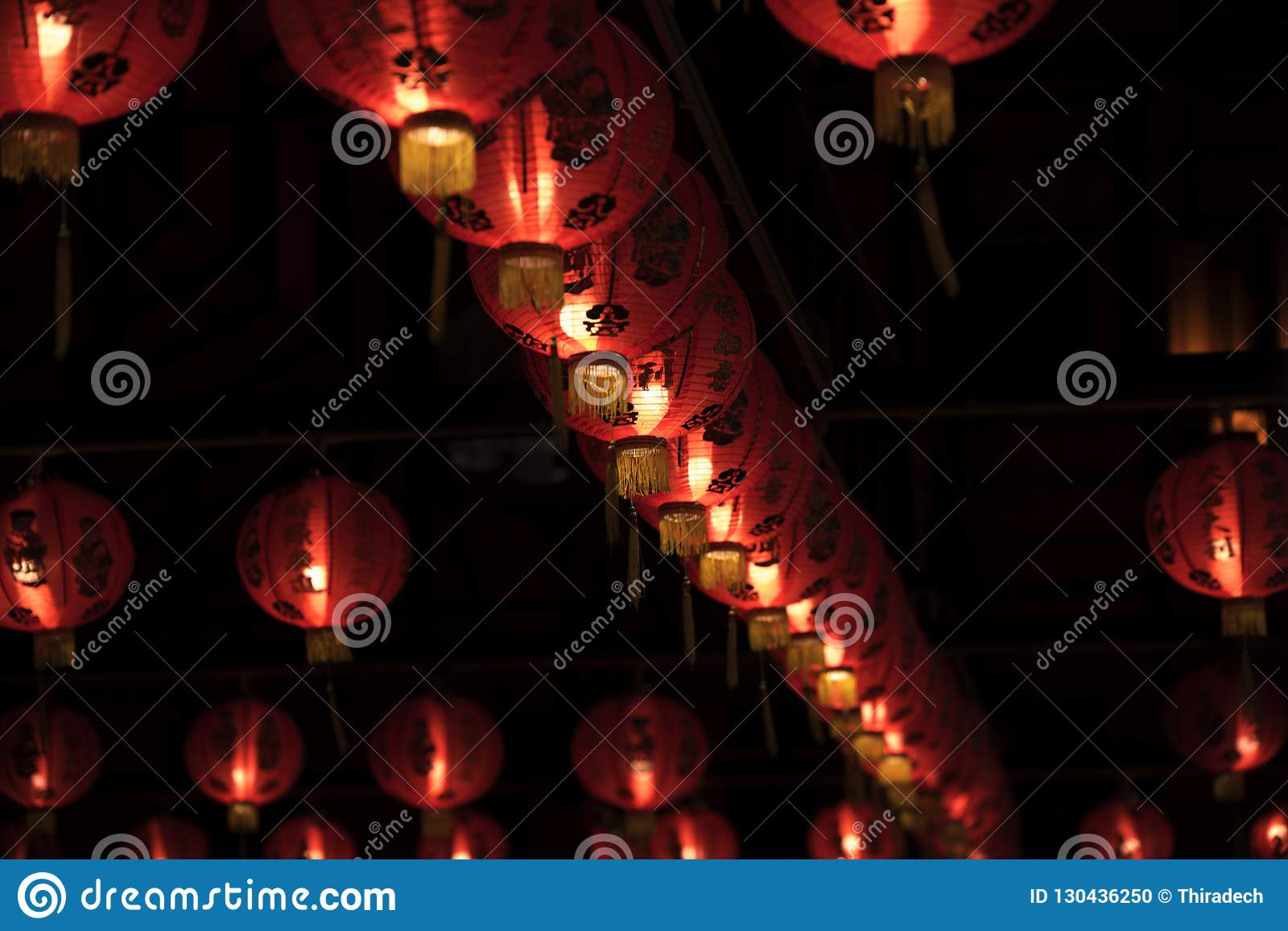 Red Lanterns Oriental Charm Stock Photo Image Of