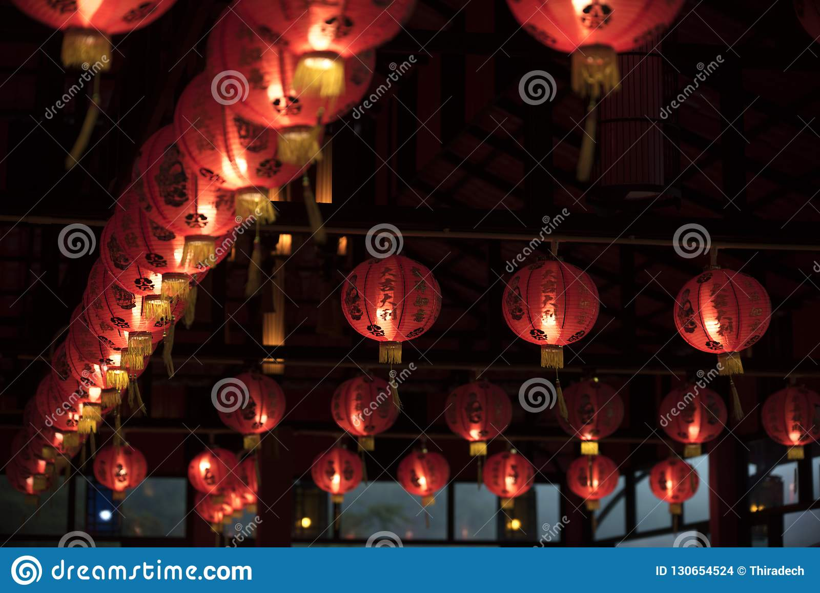 Red Lanterns Oriental Charm Stock Photo Image Of Oriental