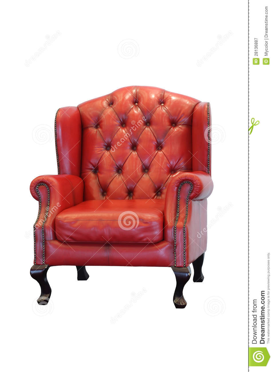 Red leather armchair stock image. Image of furniture ...