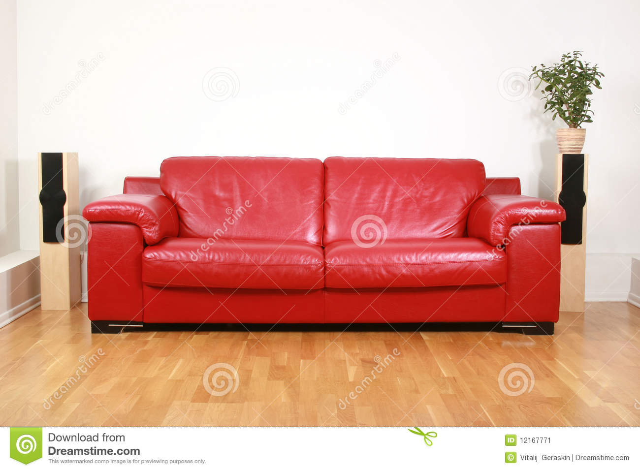 Royalty Free Stock Photo. Download Red Leather Sofa ...