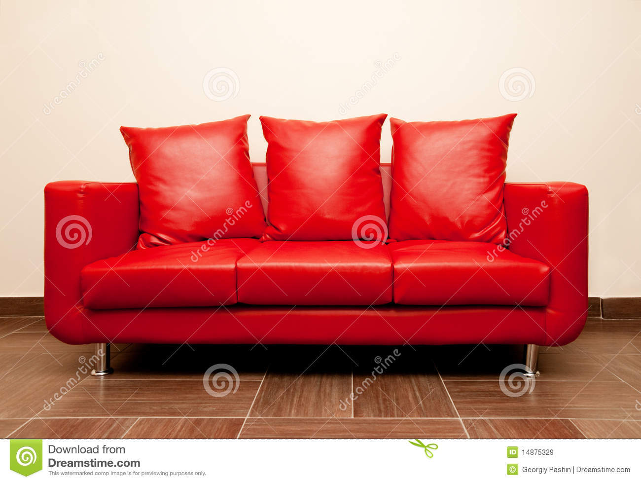 Red Leather Sofa Royalty Free Stock Images Image 14875329