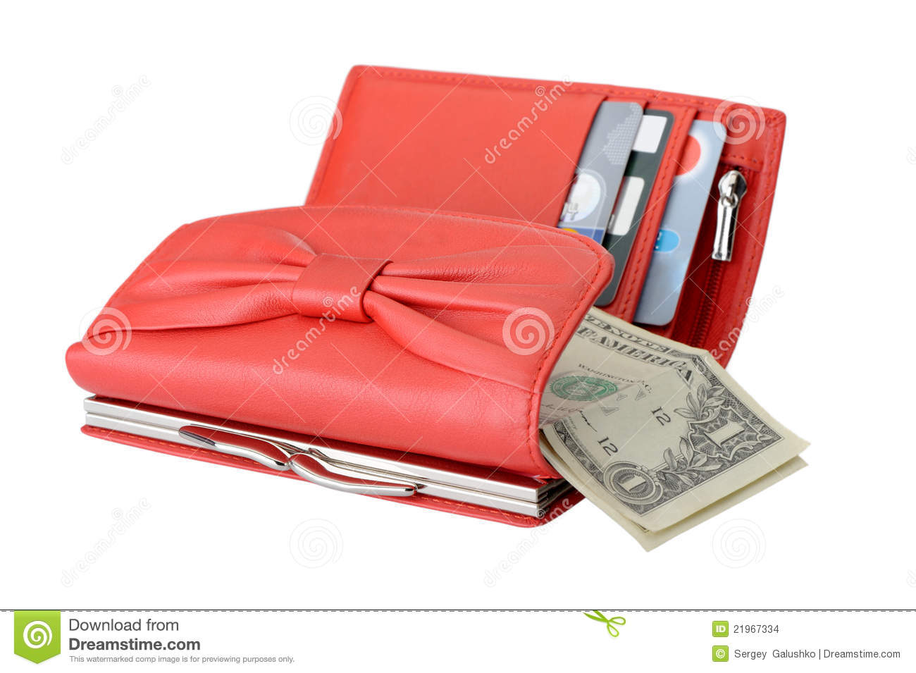 Leather Wallet With A Dollars Royalty-Free Stock Image ...