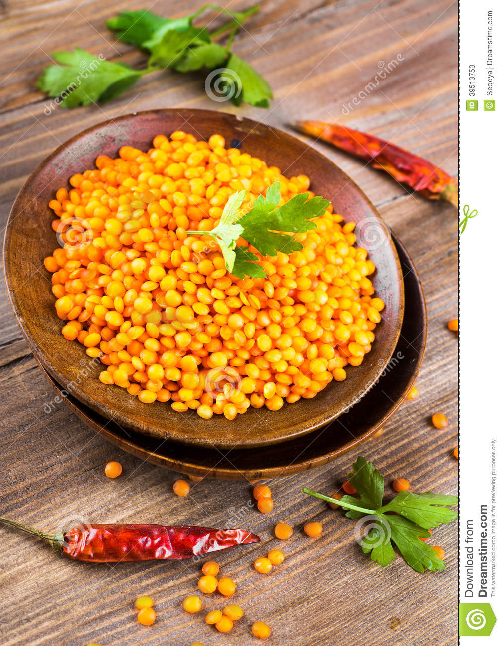 Red lentils pepper
