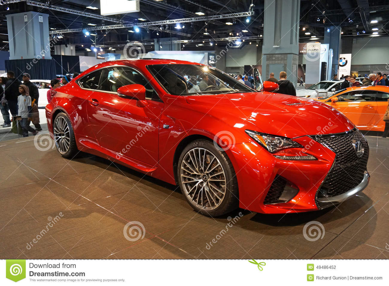 Red Lexus Rc F Sports Car Editorial Photography Image Of Though
