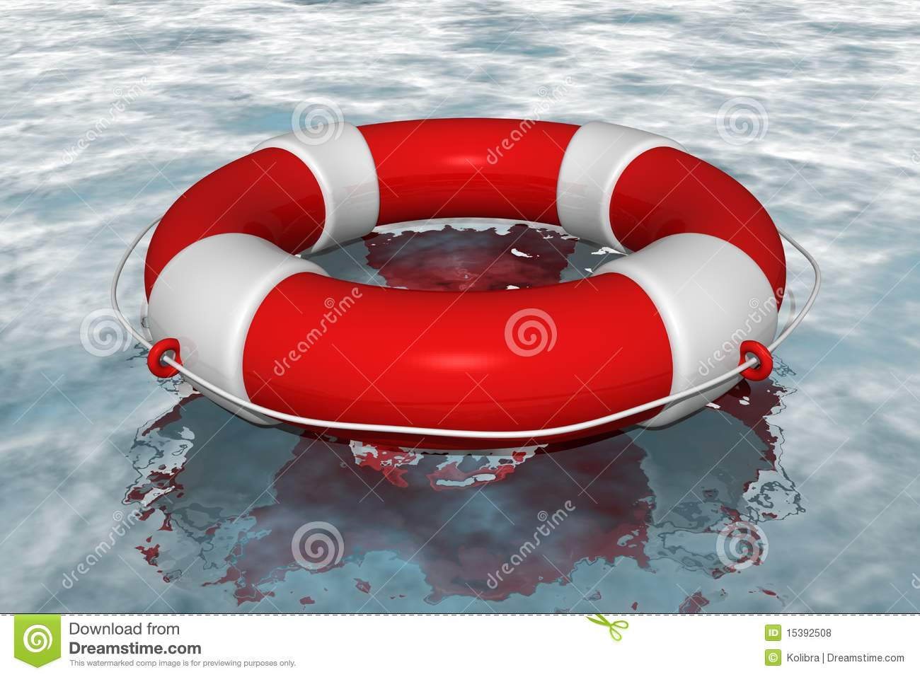 Red Life Buoy In The Water Royalty Free Stock Photos ...