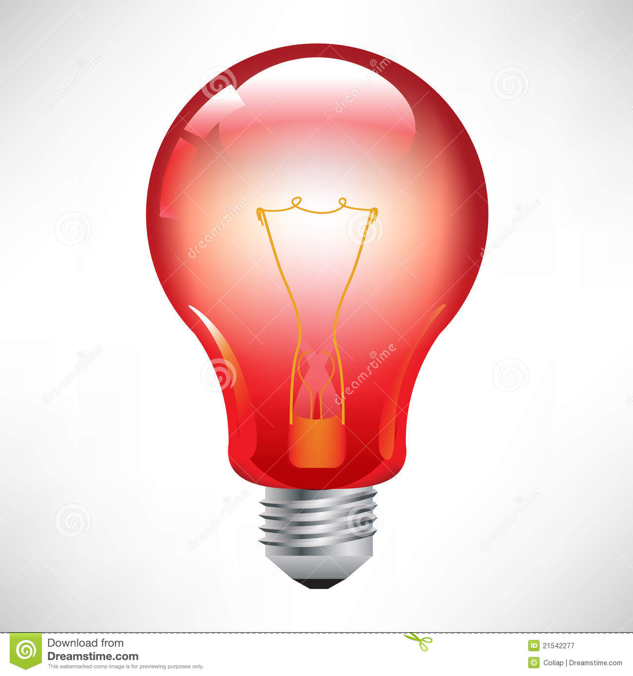 Red Light Bulb Royalty Free Stock Photography Image 21542277