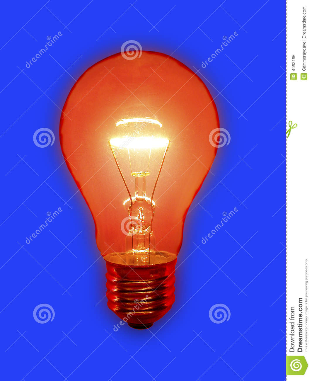 Download Red Light Bulb stock image. Image of bulb, colourful, bright - 4963165