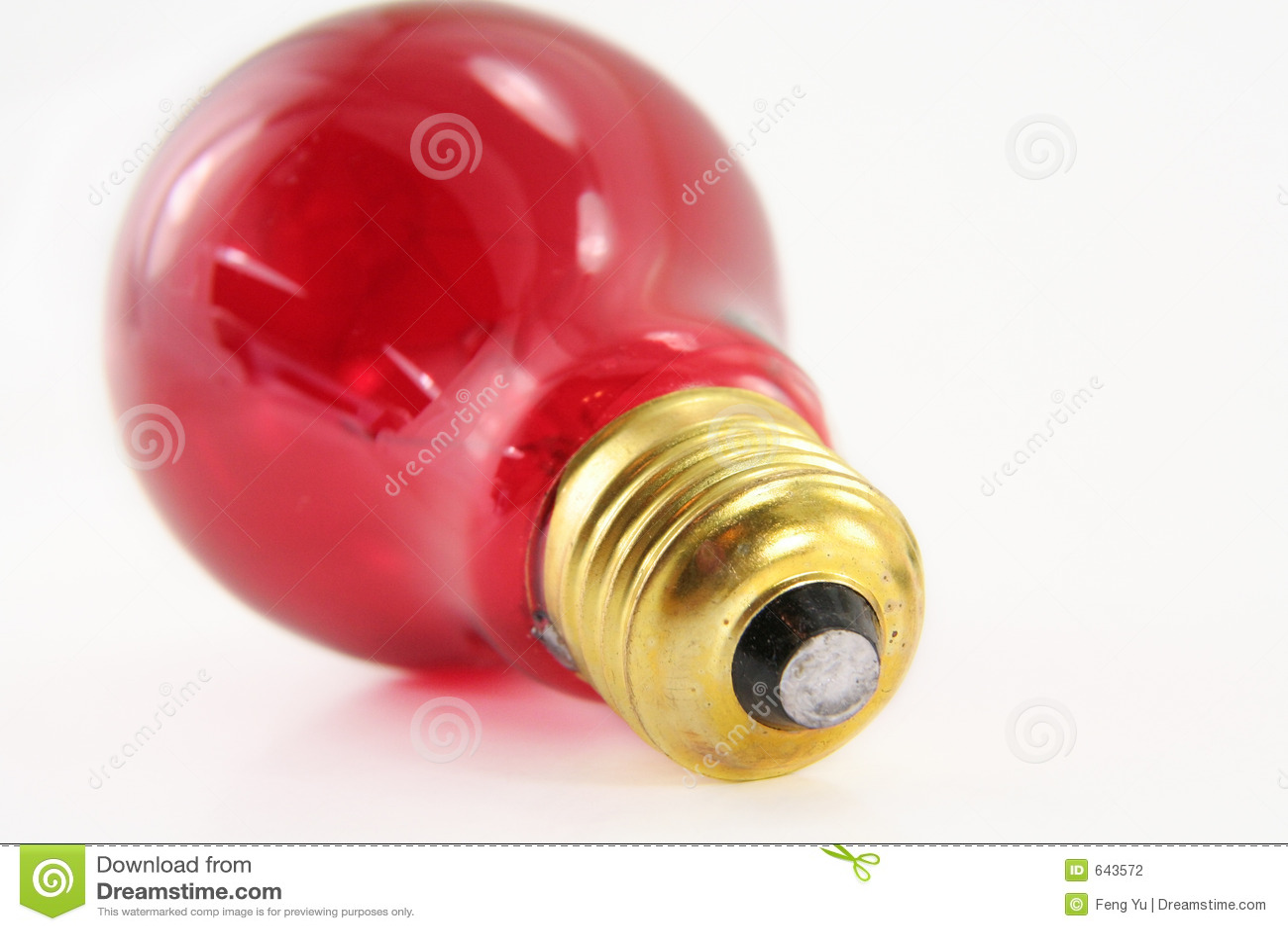 Red Light Bulb Stock Image 51195265
