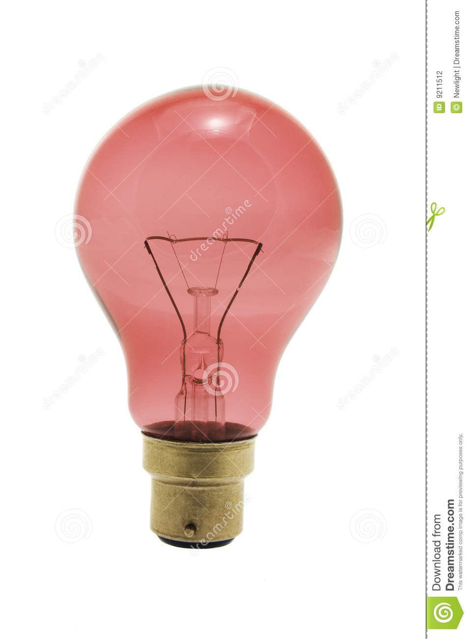 Red Light Bulb Stock Photography Image 9211512