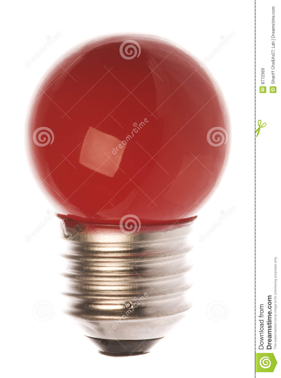 Download Red Light Bulb Isolated stock image. Image of illuminate - 8772369