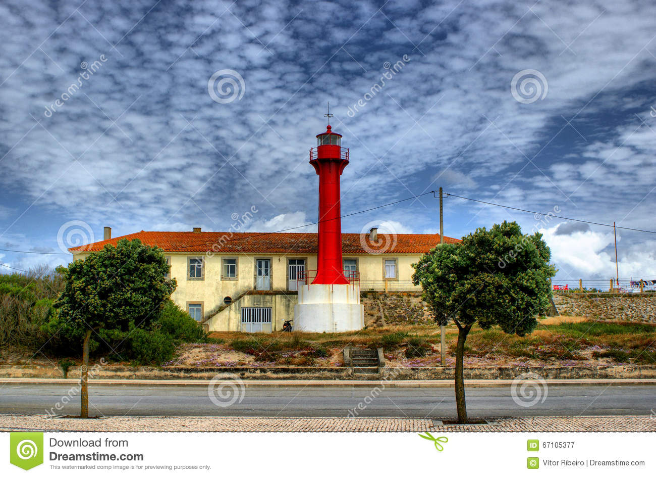 Red lighthouse in Esposende