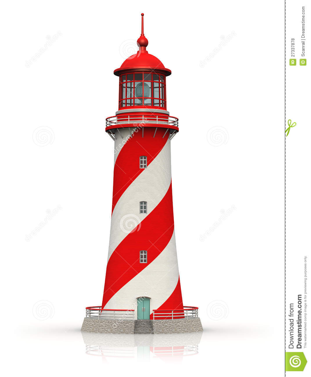 Red Lighthouse On White Royalty Free Stock Photos - Image: 27337878: www.dreamstime.com/royalty-free-stock-photos-red-lighthouse-white...