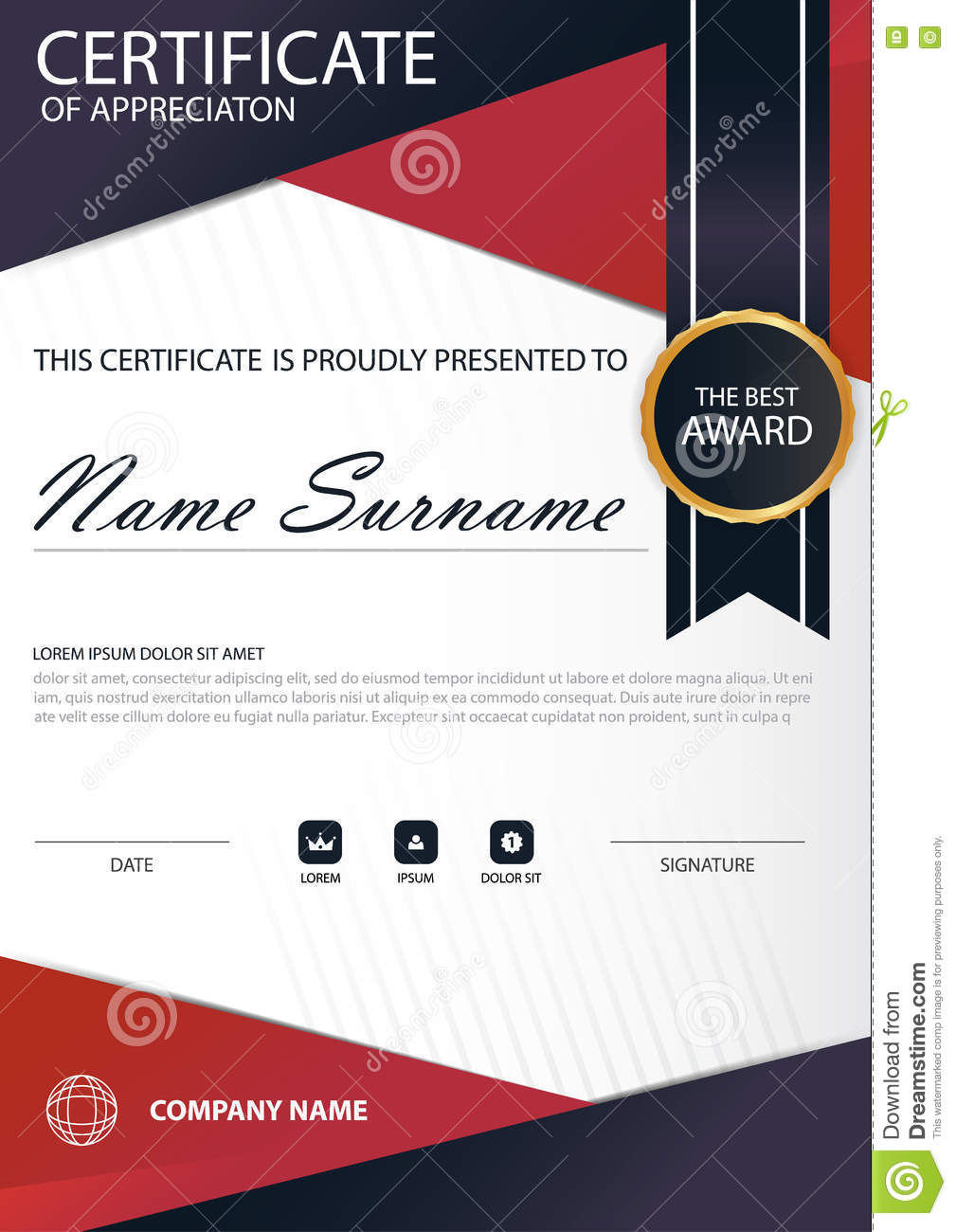 Red line elegance vertical certificate with vector illustration red line elegance vertical certificate with vector illustration white frame certificate template with clean and modern pattern yelopaper Gallery
