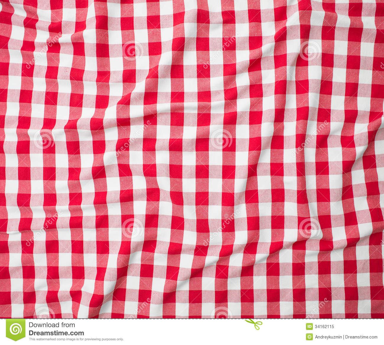Table Cloth Background : Red linen crumpled tablecloth background.