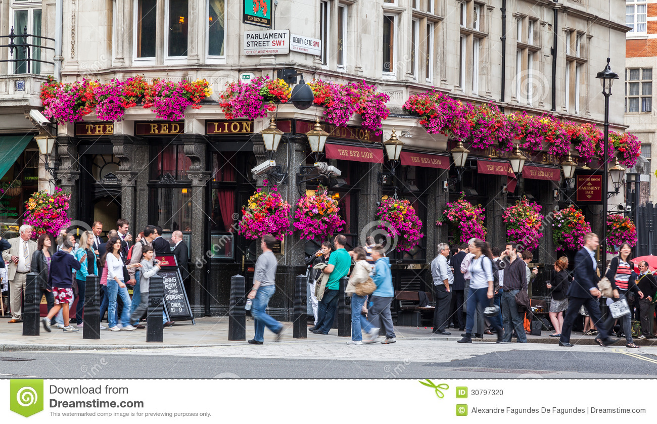 The Red Lion Pub London editorial image  Image of tourist