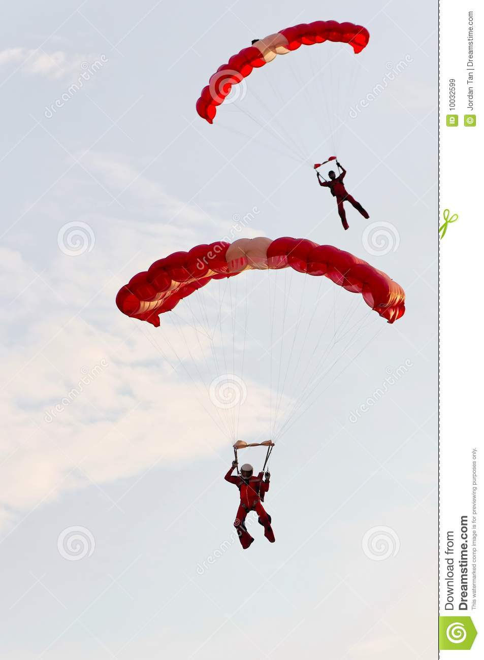 Red Lions Parachute Team editorial stock image. Image of