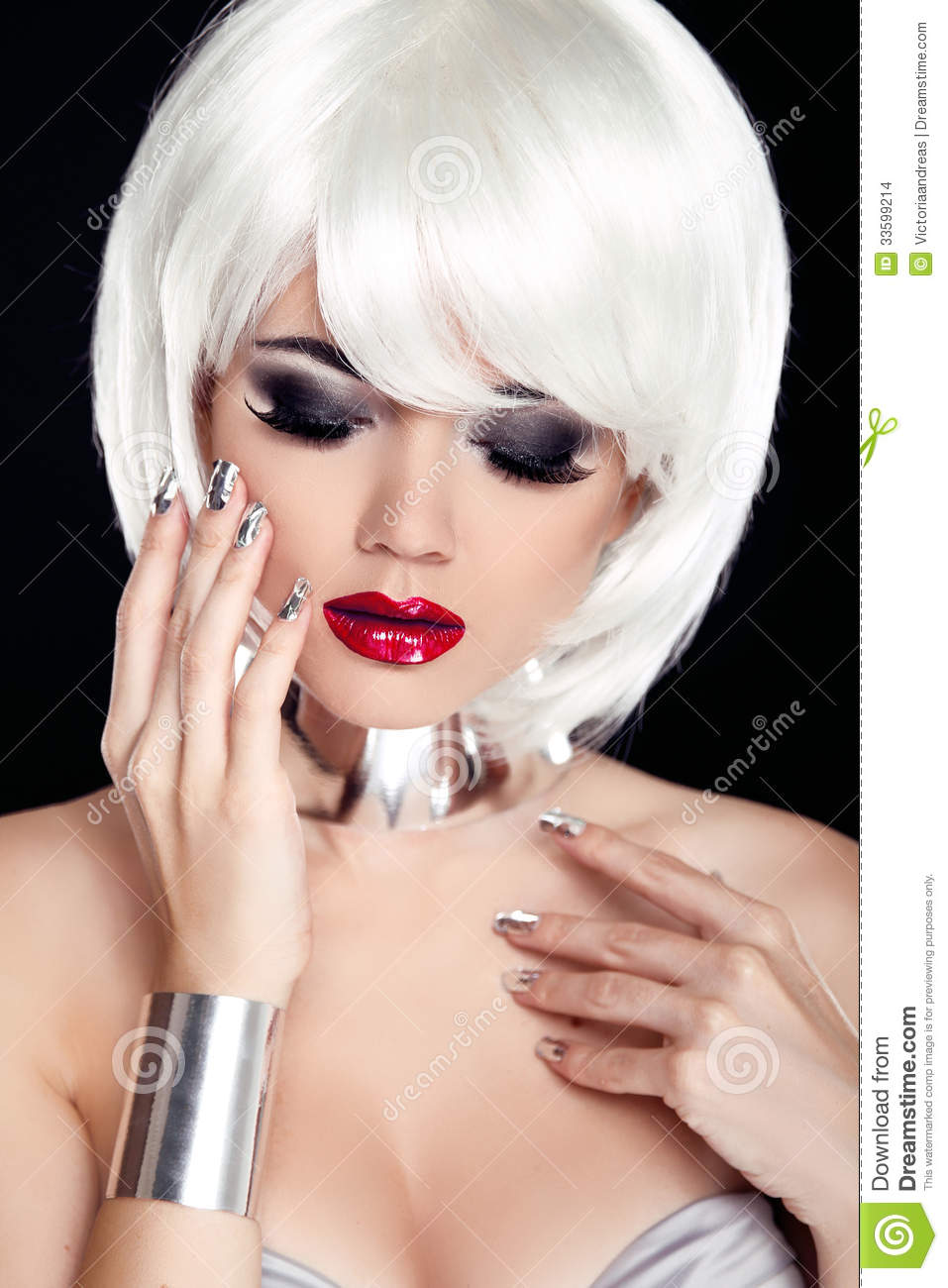 Sexy girls with white hair