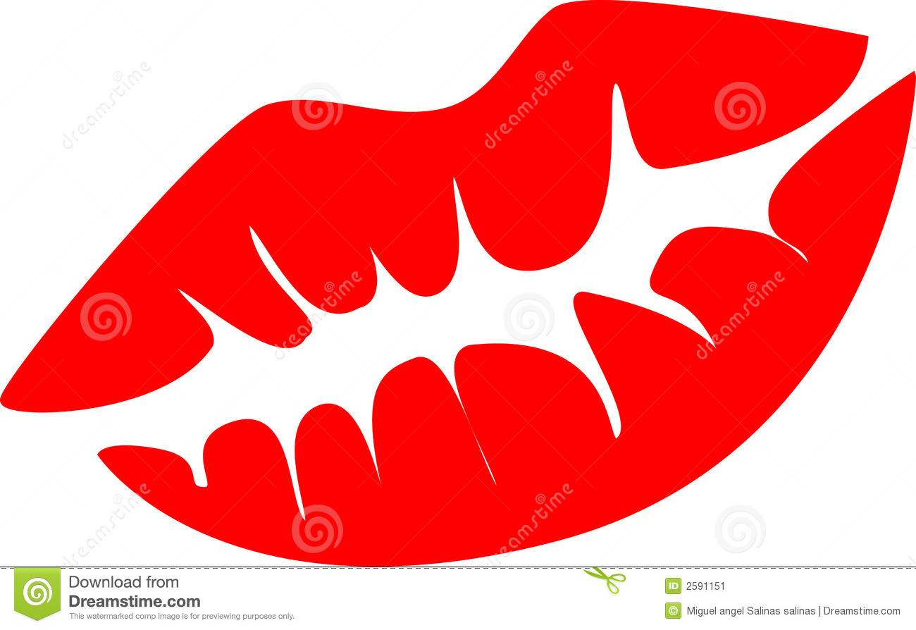 Red Lips Vector Illustration Stock Image Image 2591151