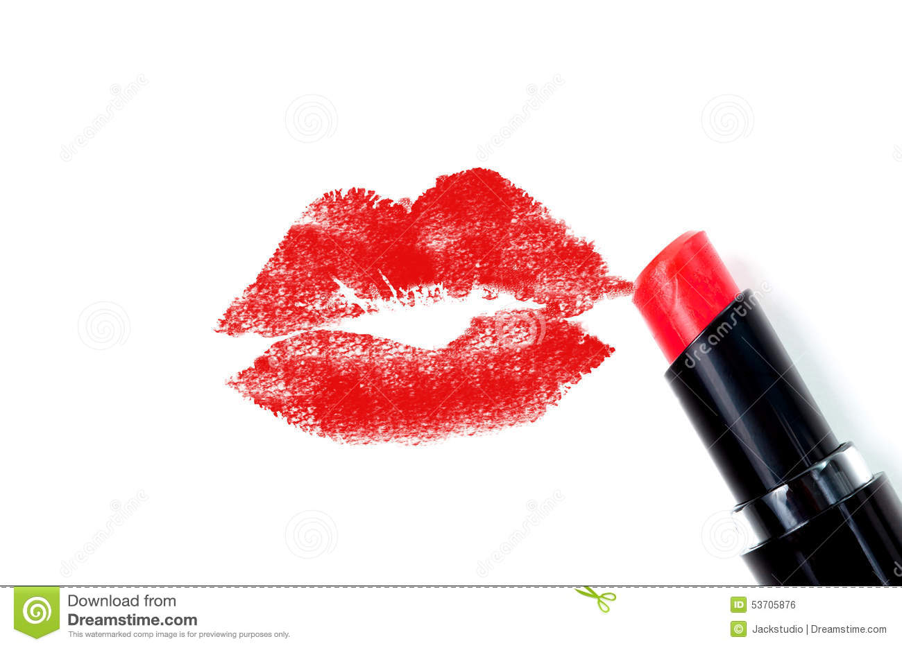 Red lipstick kiss stock photo. Image of cosmetics, beauty ...