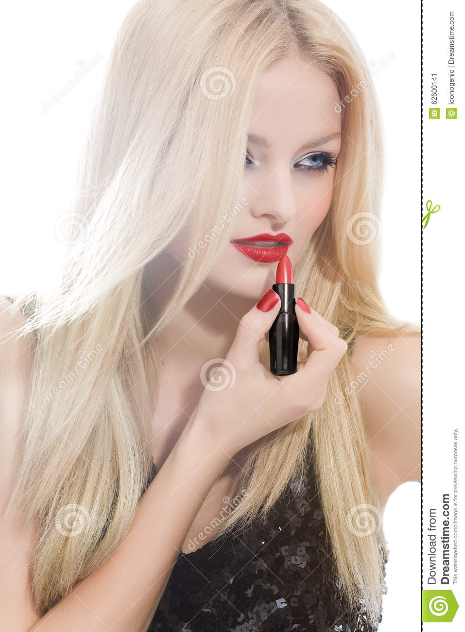 Red Lipstick Stock Photo Image 62600141
